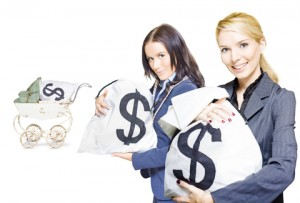 http://www.dreamstime.com/stock-photo-pretty-young-business-women-holding-sacks-money-image24722330