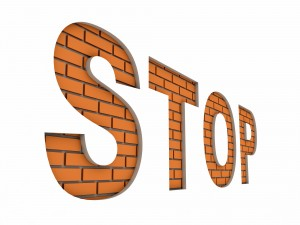 stop on wall