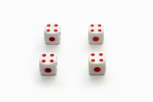 Four on dices