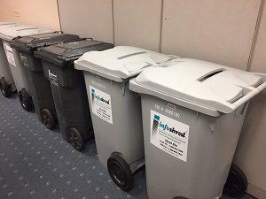 photo of shred bins