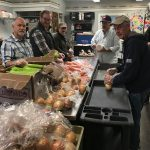 photo: Borgida team packing MACC Thanksgiving baskets