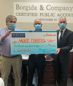 photo: big check $3,850 with 3 partners